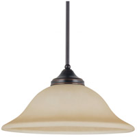 Sea Gull 6517493S-710 Division Street LED 15 inch Burnt Sienna Pendant Ceiling Light