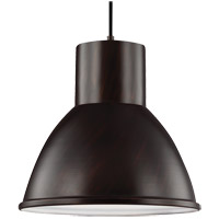 Sea Gull 6517401-710 Division Street 1 Light 15 inch Burnt Sienna Pendant Ceiling Light
