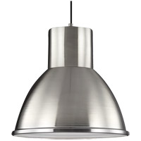 Division Street 1 Light 15 inch Brushed Nickel Pendant Ceiling Light in Standard