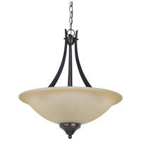 Sea Gull Lighting Brockton Fluorescent 3 Light Pendant in Burnt Sienna 65175BLE-710