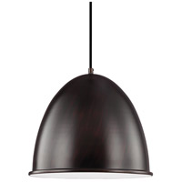 Sea Gull 6525401-710 Hudson Street 1 Light 16 inch Burnt Sienna Pendant Ceiling Light