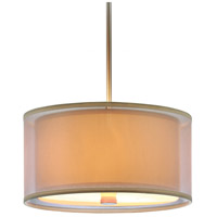 Sea Gull Lighting Jordyn Fluorescent 3 Light Pendant in Brushed Nickel 65292BLE-962 photo thumbnail