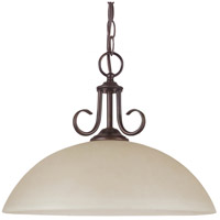 Sea Gull Lighting Lemont Fluorescent 1 Light Pendant in Burnt Sienna 65316BLE-710