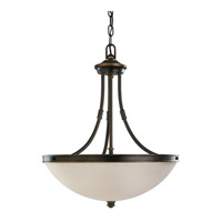 Sea Gull Lighting Warwick 3 Light Pendant in Autumn Bronze 65331-715