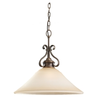 Sea Gull 65380-829 Parkview 1 Light 19 inch Russet Bronze Pendant Ceiling Light in Ginger Glass