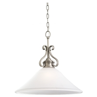 Sea Gull Lighting Parkview 1 Light Pendant in Antique Brushed Nickel 65380-965