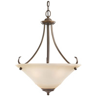 Sea Gull Lighting Parkview 3 Light Pendant in Russet Bronze 65381-829