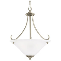 Sea Gull 65381-965 Parkview 3 Light 20 inch Antique Brushed Nickel Pendant Ceiling Light in Satin Etched Glass photo thumbnail