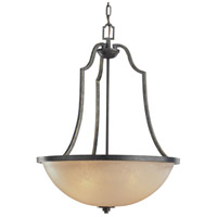 Roslyn 3 Light 21 inch Flemish Bronze Chandelier Ceiling Light in Standard