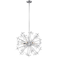 Sea Gull 6580506EN-05 Davi 6 Light 25 inch Chrome Pendant Ceiling Light