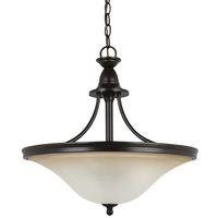 Sea Gull Lighting Gladstone 3 Light Pendant Up Light in Heirloom Bronze 65851-782 photo thumbnail
