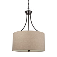Stirling 3 Light 19 inch Burnt Sienna Pendant Ceiling Light