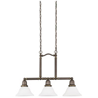 Sea Gull 66061-782 Sussex 3 Light 8 inch Heirloom Bronze Pendant Ceiling Light in Satin Etched Glass