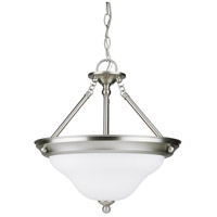 Sea Gull 66062-962 Sussex 3 Light 15 inch Brushed Nickel Pendant Ceiling Light