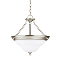 Sea Gull 66062EN3-962 Sussex 3 Light 15 inch Brushed Nickel Semi-Flush Convertible Pendant Ceiling Light