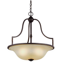 Trempealeau 3 Light 19 inch Roman Bronze Pendant Ceiling Light in Standard