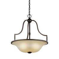 Trempealeau 3 Light 19 inch Roman Bronze Pendant Ceiling Light