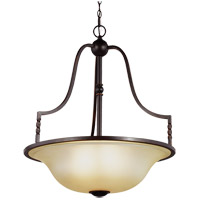 Trempealeau 4 Light 25 inch Roman Bronze Pendant Ceiling Light in Fluorescent