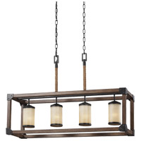 Sea Gull 6613304-846 Dunning 4 Light 36 inch Stardust Island Pendant Ceiling Light in Standard