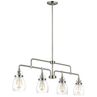 Sea Gull 6614504-962 Belton 4 Light 41 inch Brushed Nickel Linear Pendant Ceiling Light