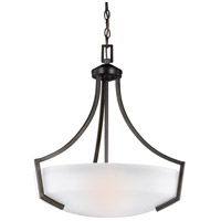 Sea Gull 6624503-710 Hanford 3 Light 21 inch Burnt Sienna Pendant Ceiling Light