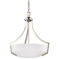 Sea Gull 6624503-962 Hanford 3 Light 21 inch Brushed Nickel Pendant Ceiling Light