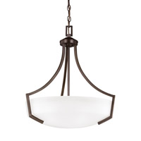 Sea Gull 6624503EN3-710 Hanford 3 Light 21 inch Burnt Sienna Pendant Ceiling Light