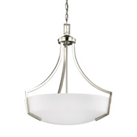 Sea Gull 6624503EN3-962 Hanford 3 Light 21 inch Brushed Nickel Pendant Ceiling Light