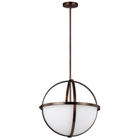 Sea Gull 6624603-778 Alturas 3 Light 19 inch Brushed Oil Rubbed Bronze Pendant Ceiling Light