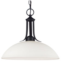 Sea Gull Lighting Uptown Fluorescent 1 Light Pendant in Blacksmith 66270BLE-839
