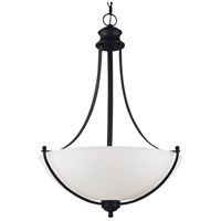Sea Gull Lighting Uptown 3 Light Pendant in Blacksmith 66271-839