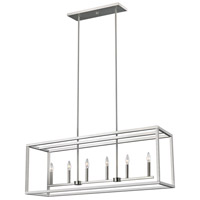 Sea Gull 6634506EN-962 Moffet Street LED 42 inch Brushed Nickel Island Pendant Ceiling Light