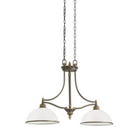 Laurel Leaf 2 Light 12 inch Estate Bronze Pendant Ceiling Light