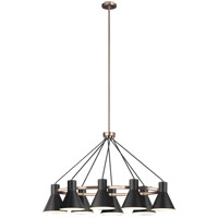 Sea Gull 6641308EN3-848 Towner 8 Light 25 inch Satin Bronze Pendant Ceiling Light