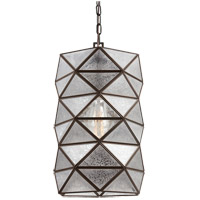 Harambee 1 Light 12 inch Heirloom Bronze Pendant Ceiling Light in Mercury Glass, Fluorescent