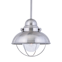 Sea Gull Sebring Outdoor Pendant in Brushed Stainless 665891S-98