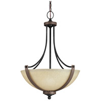 Sea Gull Corbeille 3 Light Pendant in Stardust / Cerused Oak 6680403-846