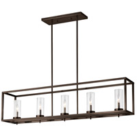 Sea Gull 6690305EN-778 Zire 5 Light 9 inch Brushed Oil Rubbed Bronze Pendant Ceiling Light