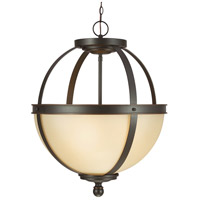 Sfera 3 Light 19 inch Autumn Bronze Pendant Ceiling Light in Fluorescent