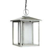 Sea Gull 69029-57 Hunnington 1 Light 9 inch Weathered Pewter Outdoor Pendant