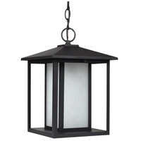 Sea Gull Lighting Hunnington Fluorescent 1 Light Outdoor Pendant in Black 69029BLE-12