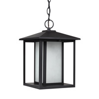 Sea Gull 69029EN3-12 Hunnington 1 Light 9 inch Black Outdoor Pendant
