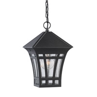 Sea Gull 69131-12 Herrington 1 Light 7 inch Black Outdoor Pendant