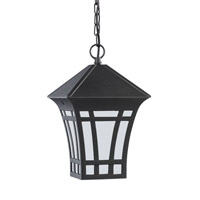 Sea Gull 69131EN3-12 Herrington 1 Light 7 inch Black Outdoor Pendant