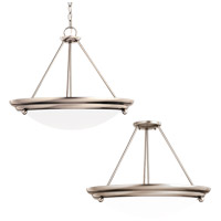 Centra 21 inch Brushed Stainless Semi Flush Convertible Pendant Ceiling Light