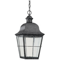 Chatham 1 Light 9 inch Weathered Copper Outdoor Pendant in No Photocell