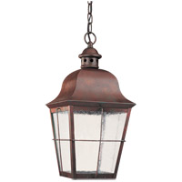 Chatham 1 Light 9 inch Oxidized Bronze Outdoor Pendant in No Photocell