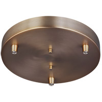 Sea Gull 7449403-848 Towner Satin Bronze Pendant Cluster Canopy 3-Port