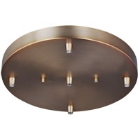 Towner Satin Bronze Pendant Cluster Canopy, 5-Port