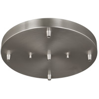Towner Brushed Nickel Pendant Cluster Canopy, 5-Port